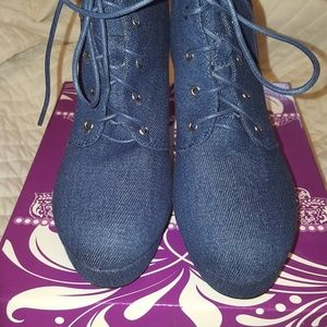 Forever Denim Booties size 9